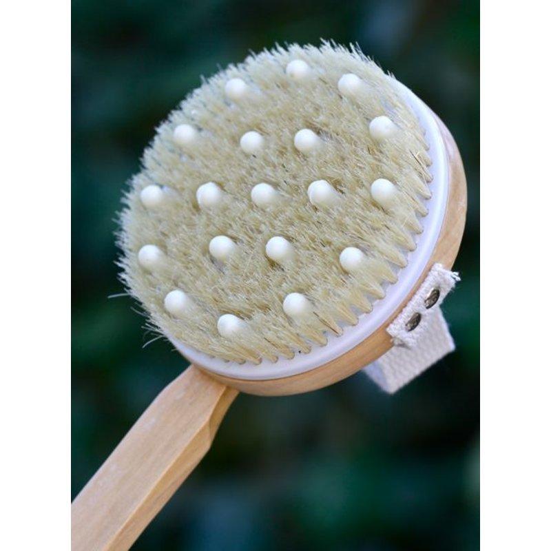Massageborstel met knop