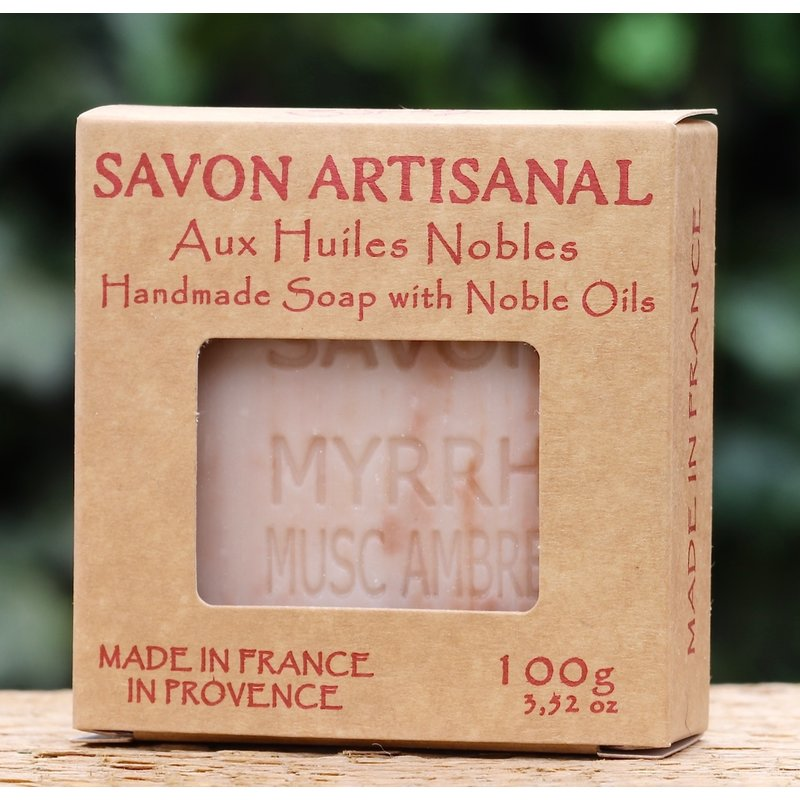Kraftdoosje met zeep amber musk en mirre