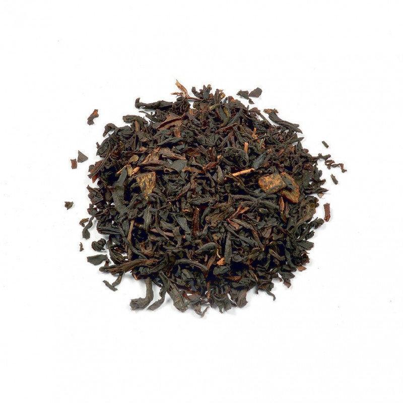 Zwarte thee met perzik/abrikozen