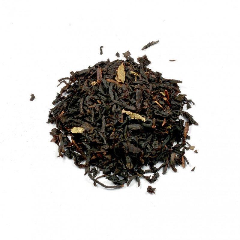 Zwarte thee met bosaardbeien