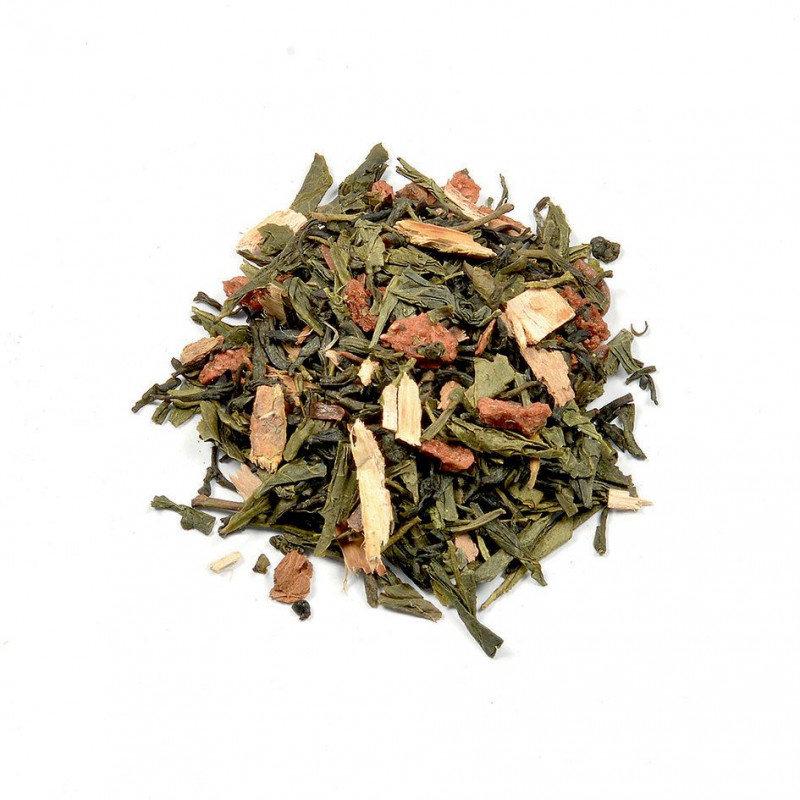 Groene thee met rabarber