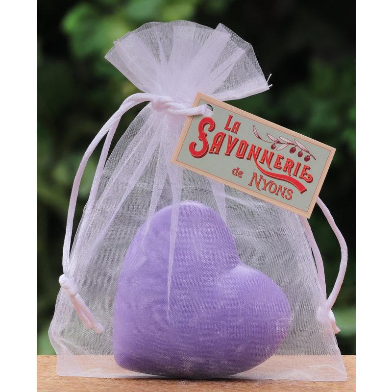 Hartzeep lavendel in organza zakje
