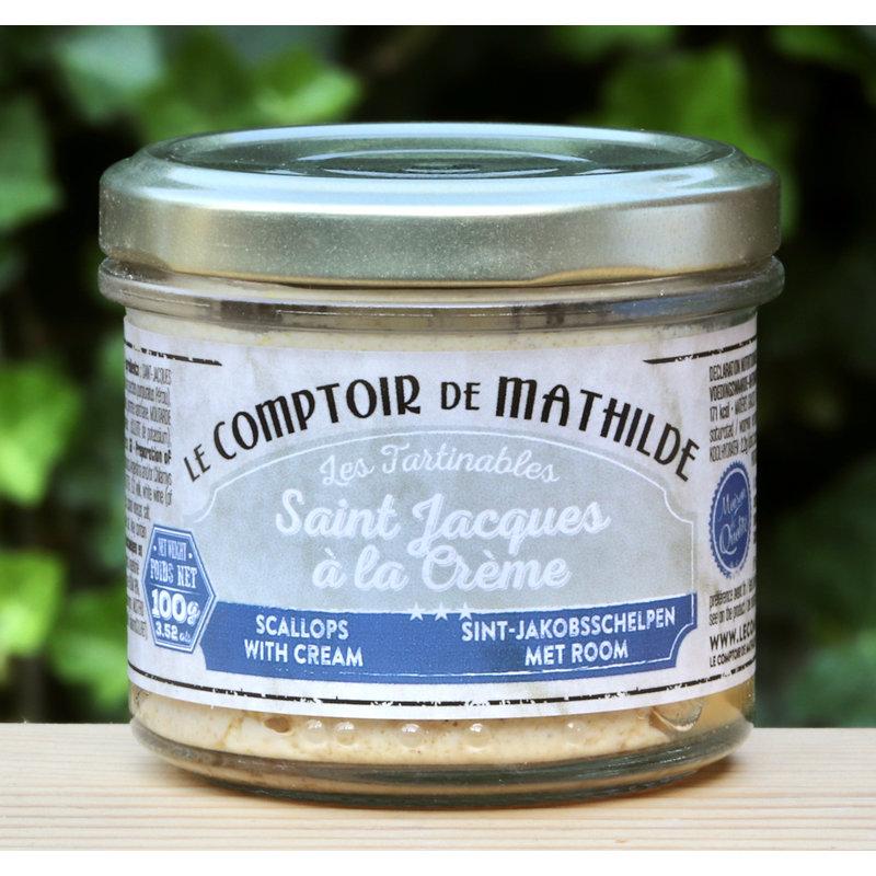 Tapenade van st. Jacques met crème