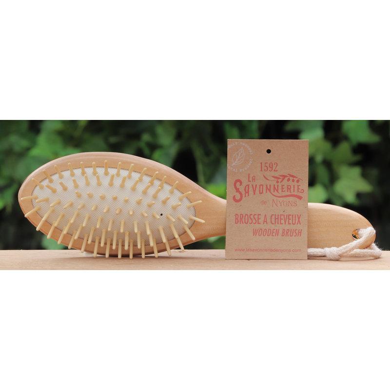 Houten haarborstel