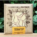 Tablet van witte chocolade en blond chocolade