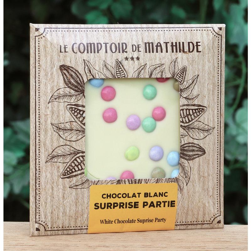 Chocoladetablet witte chocolade met smarties