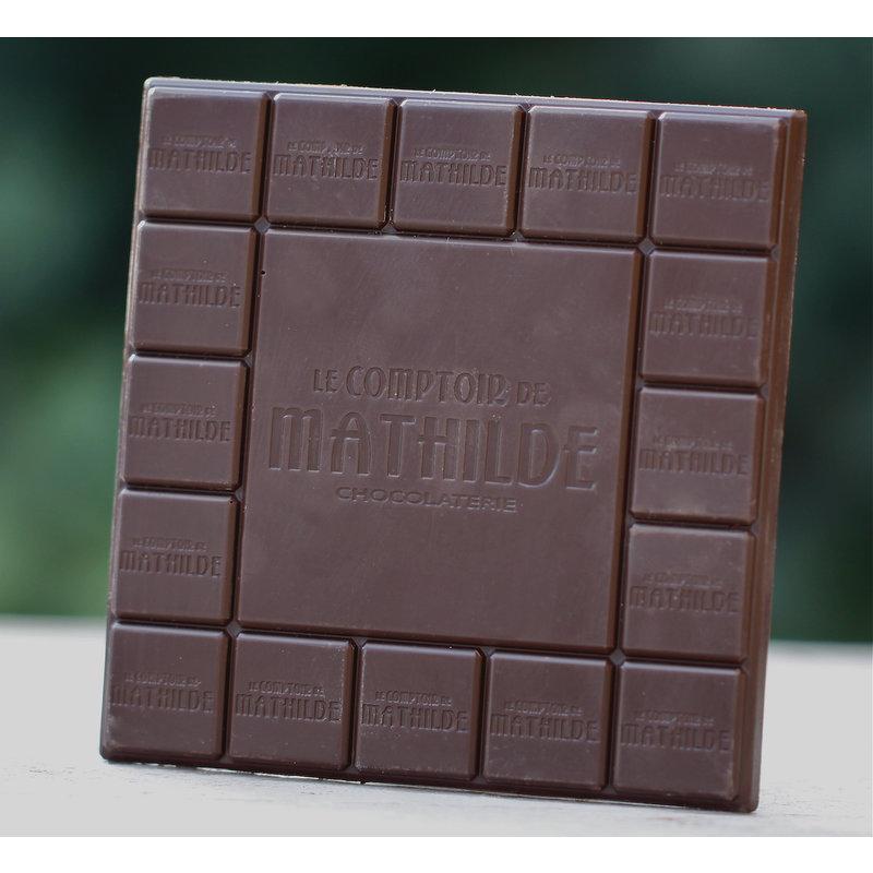 Chocoladetablet met hartjes