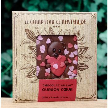 Le Comptoir de Mathilde Chocoladetablet hartjes