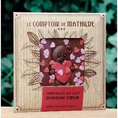 Chocoladetablet hartjes
