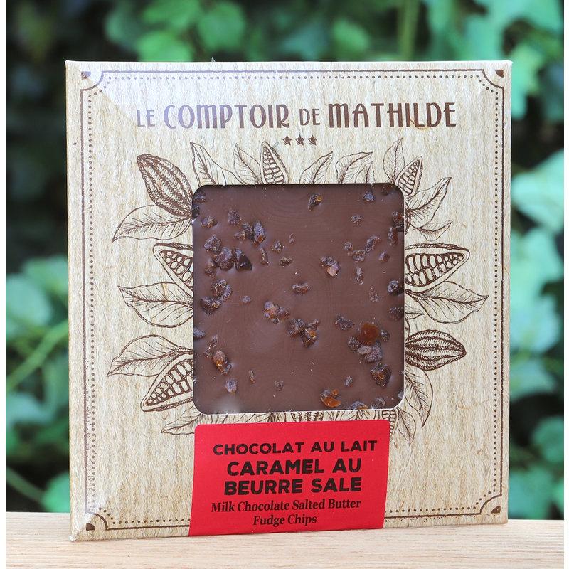 Tablet melkchocolade met caramel