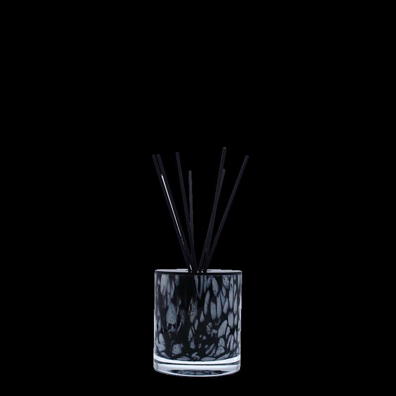 Huisparum in zwart Milanoglas
