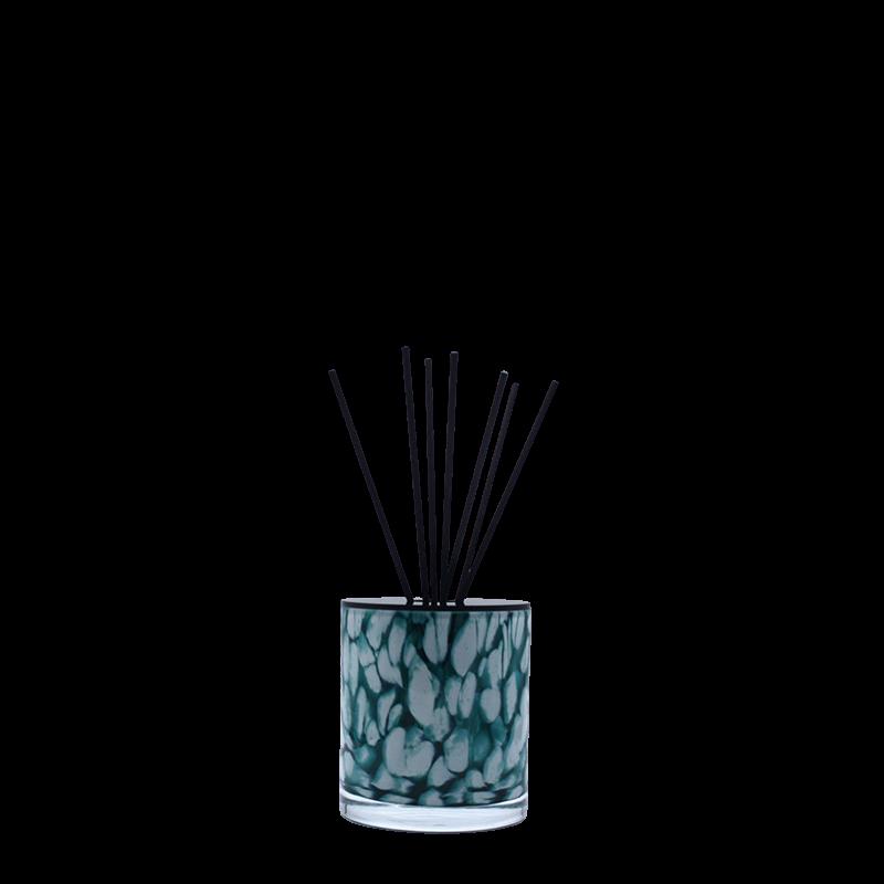 Huisparum in turquoise Milanoglas