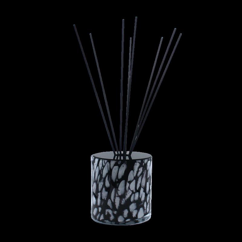 Huisparfum in zwart Milanoglas