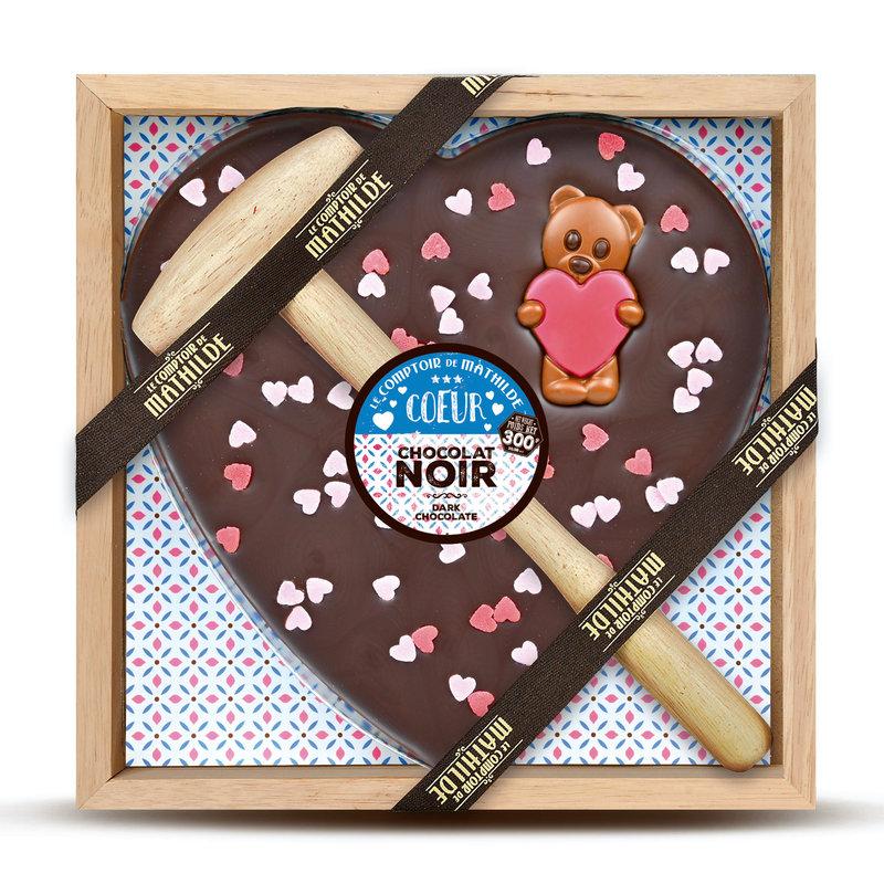 Kistje chocolade met hamer hartjes