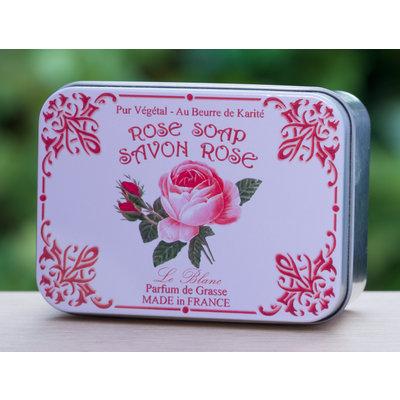 Blikje zeep rozen