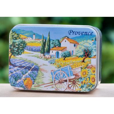Blikje zeep Provence 2