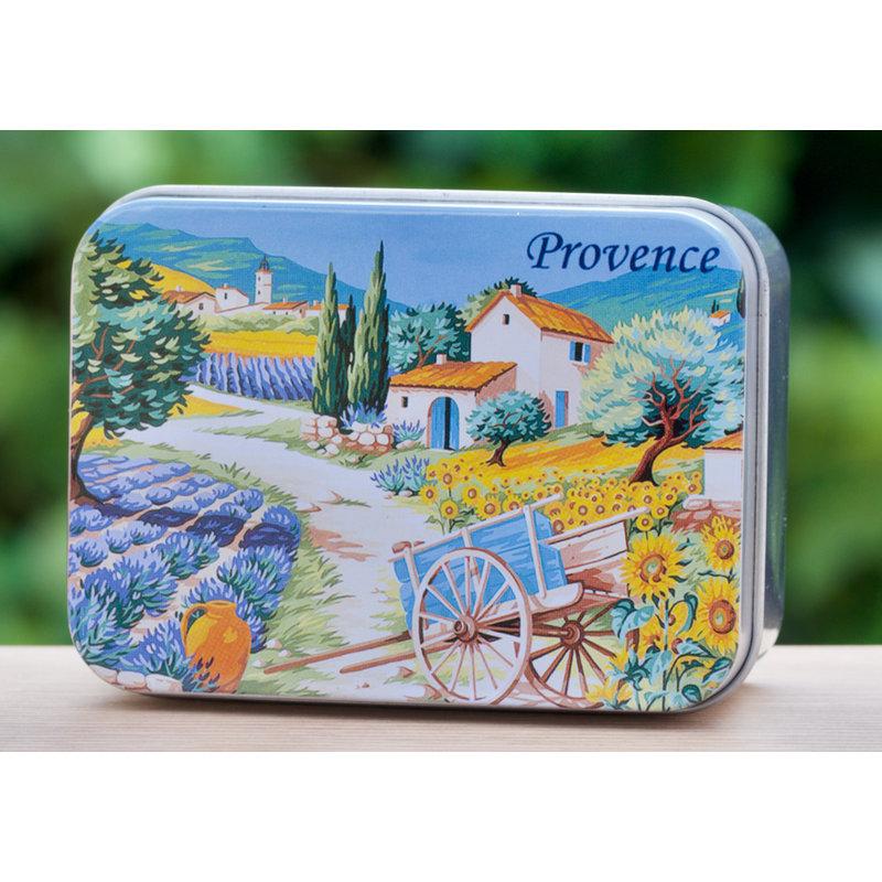 Blikje zeep Provence