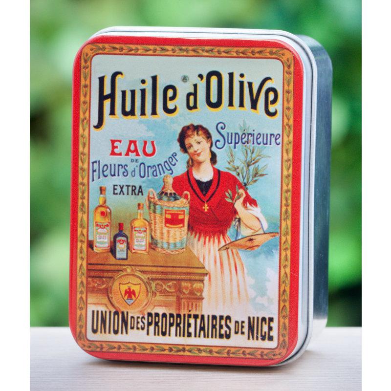 Blikje zeep huile d'olive