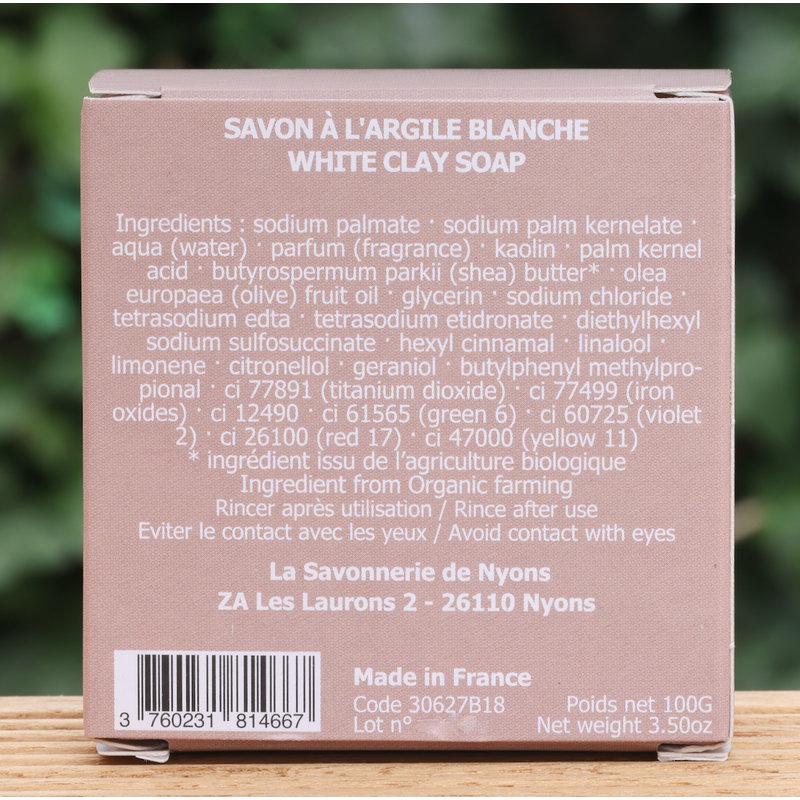 Doosje zeep met witte klei