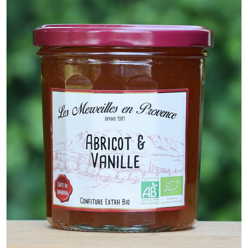 Biologische confiture met abrikozen uit de Provence en vanille