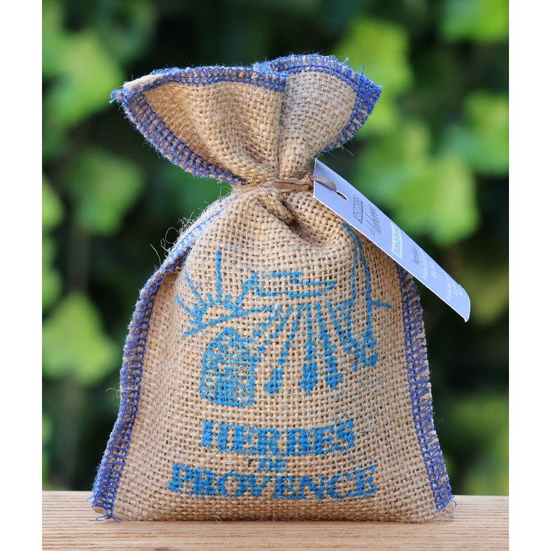 Herbes de Provence in kleine jute zak