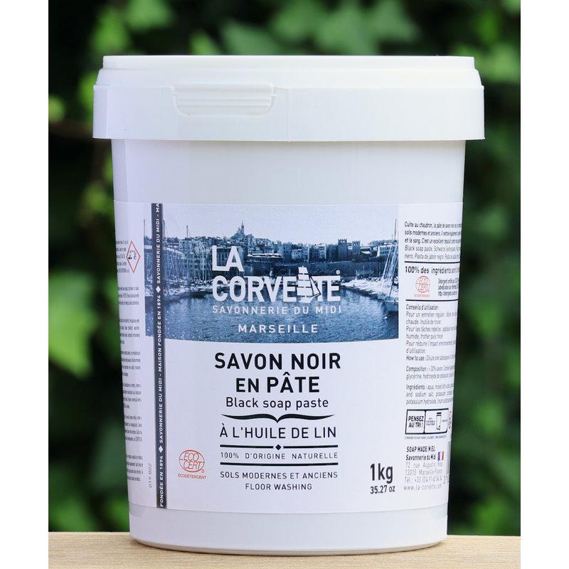 Biologische savon noir in pot