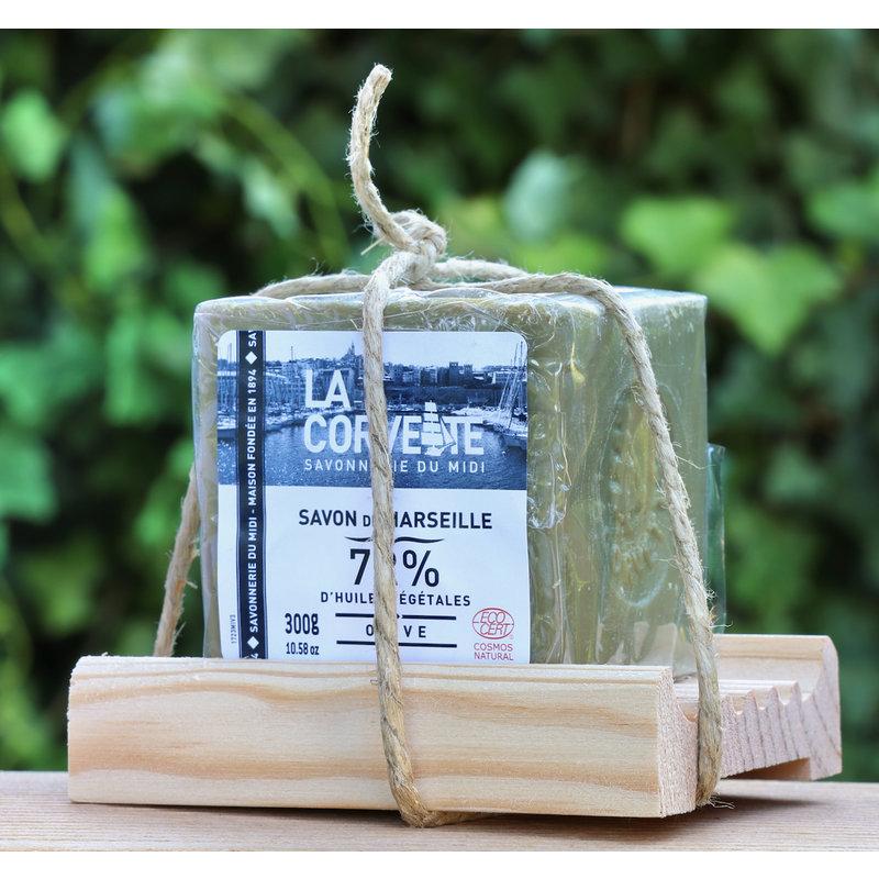 Zeepschotel  van hout