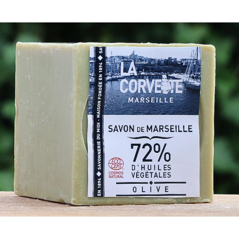 Blok biologische Marseillezeep 200 gram olijven