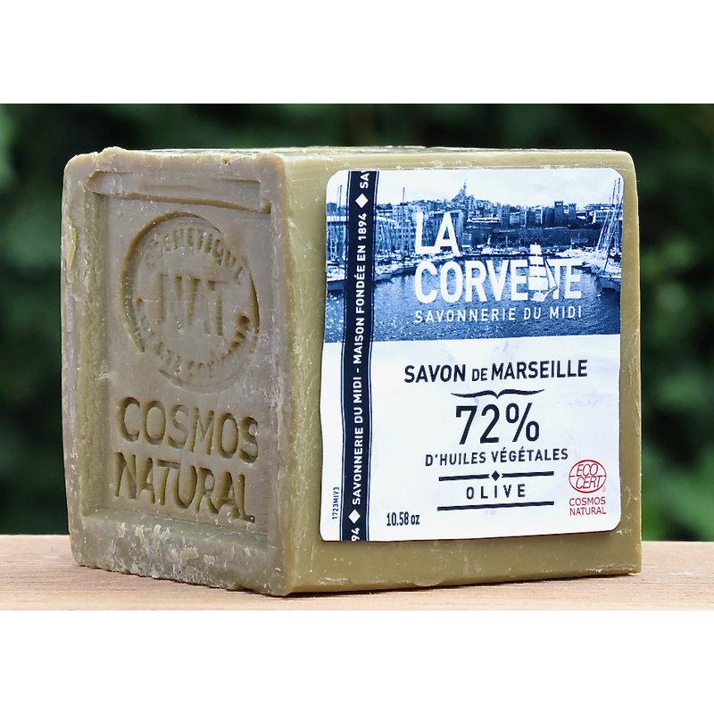 Blok biologische Marseillezeep olijven 500 gram