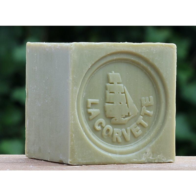 Blok biologische Marseillezeep 200 gram olijven brut