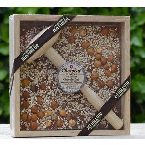 Kistjes chocolade met hamer