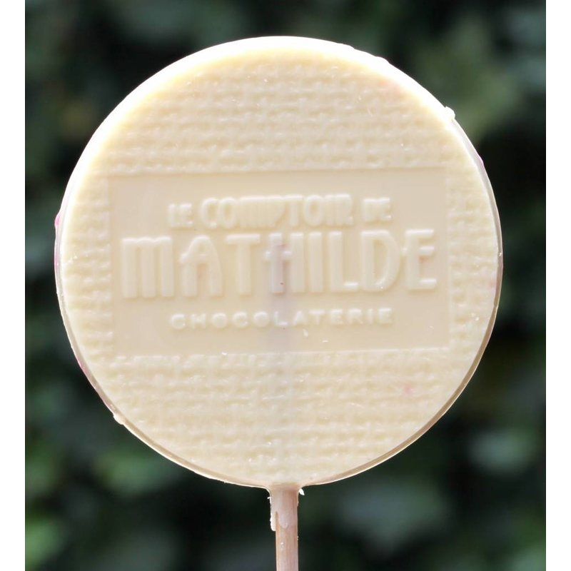 Chocoladelollie smarties witte chocolade