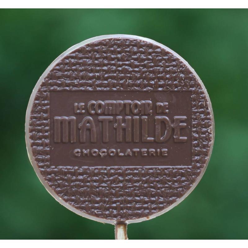Chocoladelollie met pofrijst