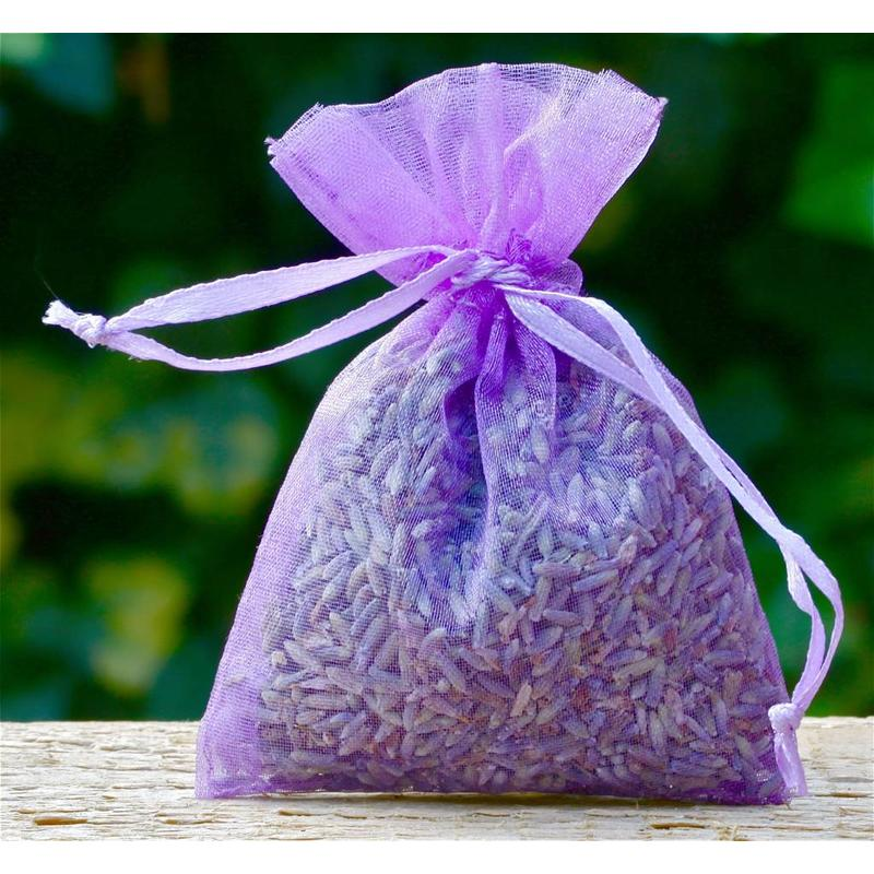 Organza lavendelzakje met naam/logo