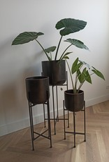 Planter Black -set van 3-