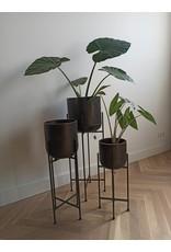 Planter Black -set van 3-