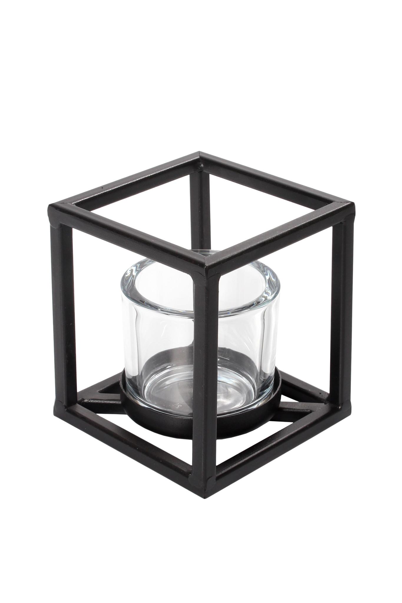 Windlicht Quattro M -zwart-