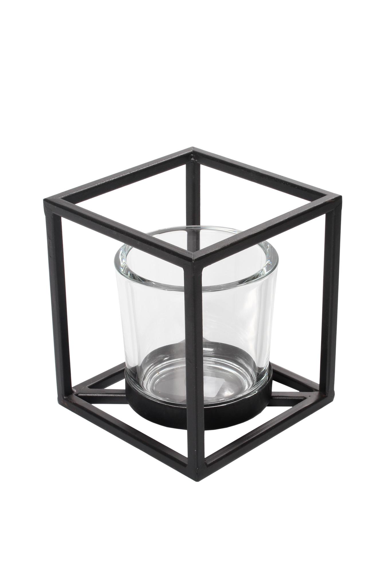 Windlicht Quattro L -zwart-