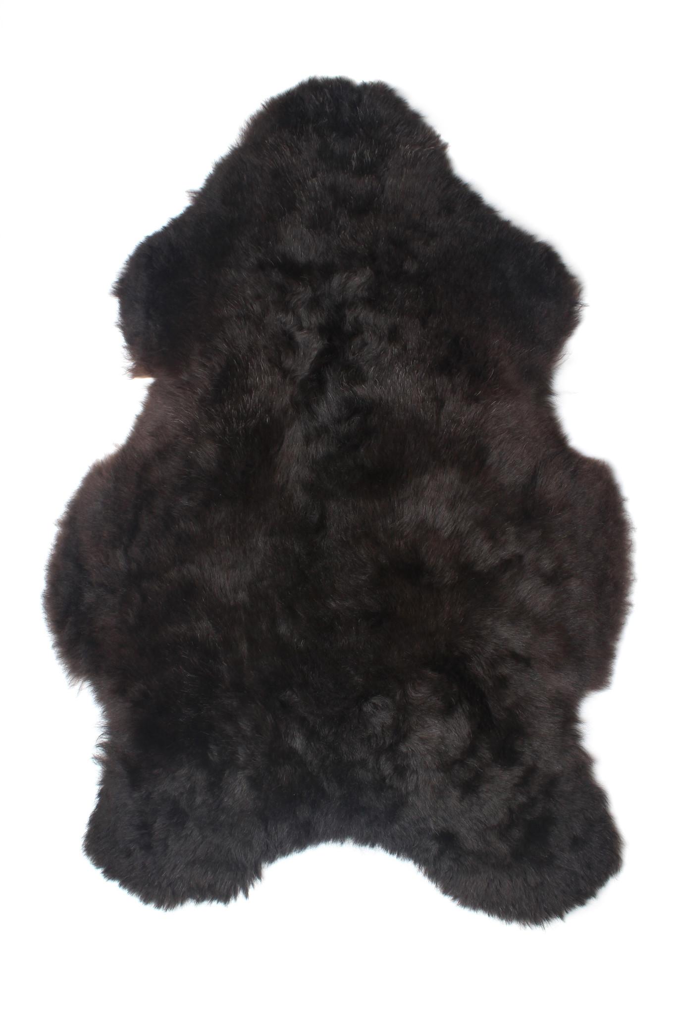 @BERG IJslandse schapenvacht geschoren -zwart-