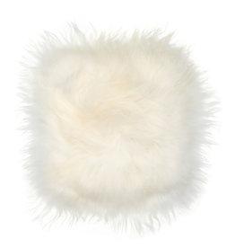 Stoelpad schapenvacht vierkant -ivoor wit-
