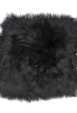 @BERG Stoelpad schapenvacht vierkant -zwart-