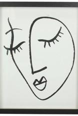 @BERG Photoframe Face Black  22x3x27h cm