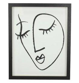 Photoframe Face  Black  22x3x27h cm