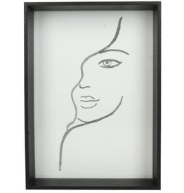 Photoframe Face  Black  13x4x19h cm