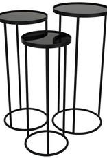 Plantentafel Rond-set van 3- zwart