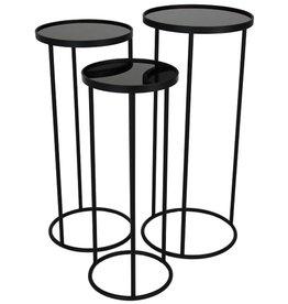 Plantentafel Rond -set van 3- zwart