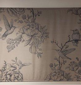 Wanddoek Birds & Flowers