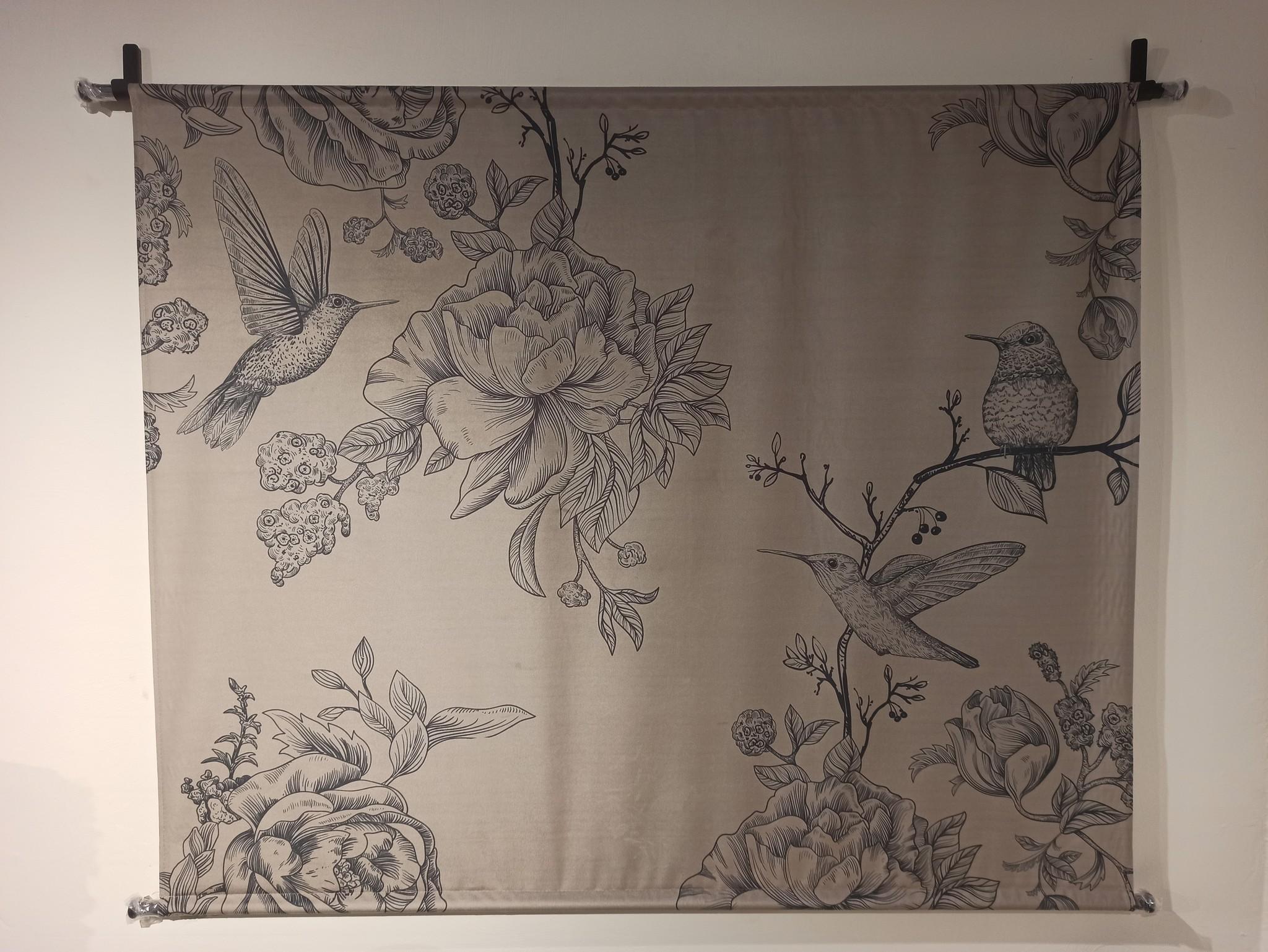 @BERG 'Wanddoek Birds & Flowers'