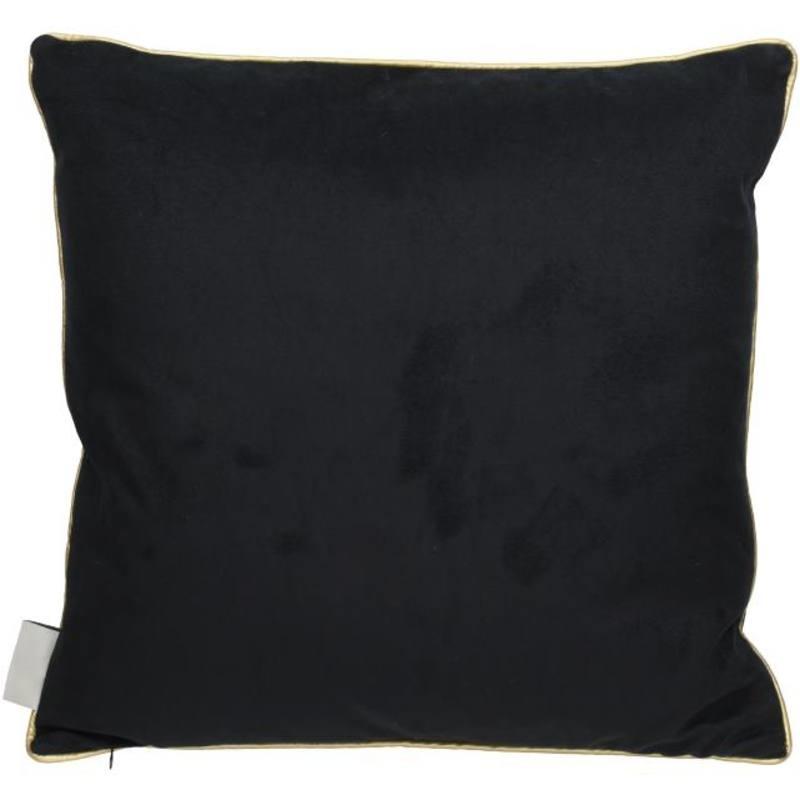 Kussen Kraanvogel 45x45 cm -zwart-