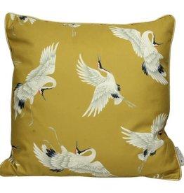 Kussen Kraanvogel -geel-